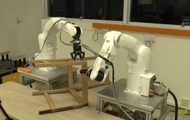 Robots were taught to assemble an IKEA chair